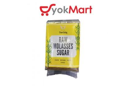 Clean Eating Raw Molasses Sugar - Dark Brown Soft 500g